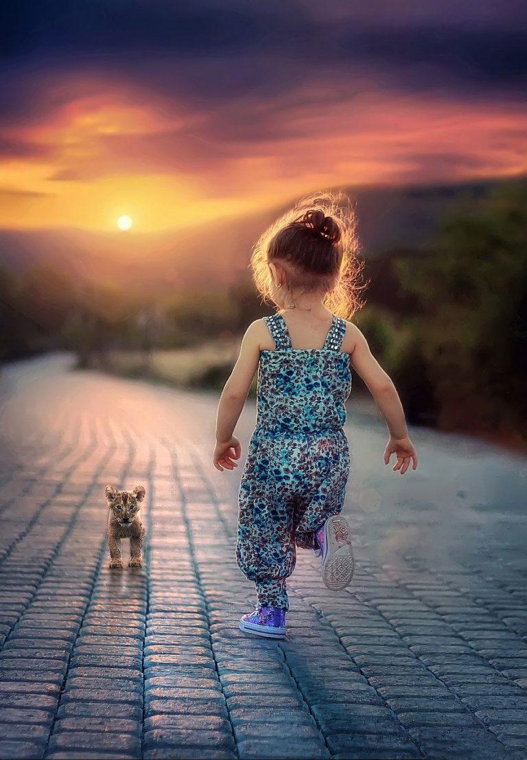 child, running, children